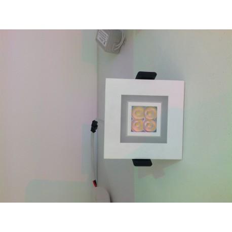Spot LED 6W carré encastrable avec double ambiance