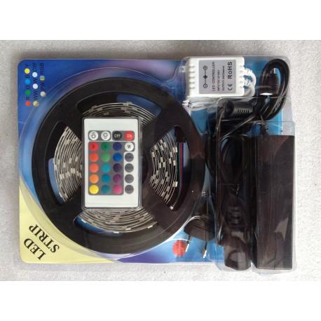 Ruban LED RGB 2M50 avec télécommande