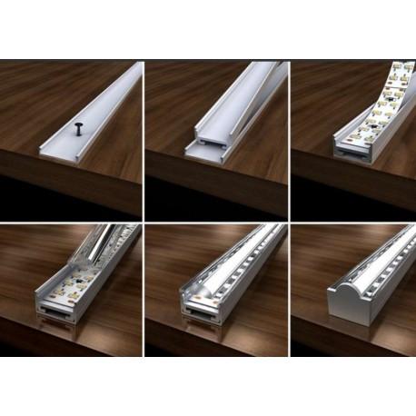 profil aluminium 200 cm pour ruban led sow. Black Bedroom Furniture Sets. Home Design Ideas