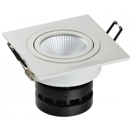 Spot LED carré 6W encastrable, dimmable et orientable