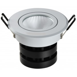 Spot LED rond 6W encastrable , dimmable et orientable