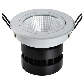 Spot LED rond 9W  encastrable, dimmable et orientable
