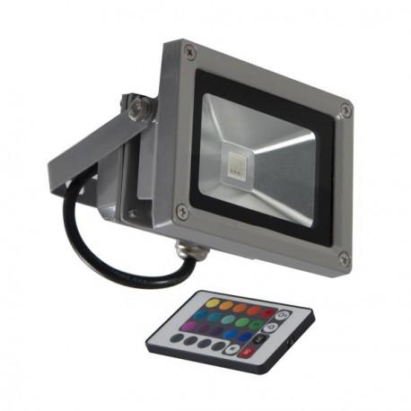 Projecteur LED 10W extérieur avec variation de couleurs et télécommande