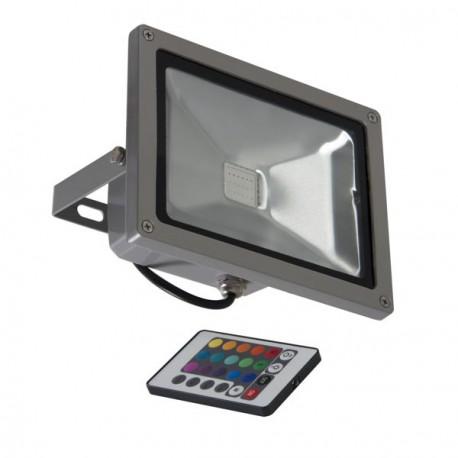 Projecteur LED 20W extérieur avec variation de couleurs et télécommande