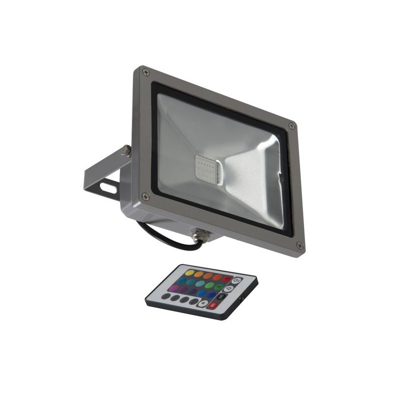 projecteur led de couleur pour l 39 ext rieur 20 watts avec commande. Black Bedroom Furniture Sets. Home Design Ideas