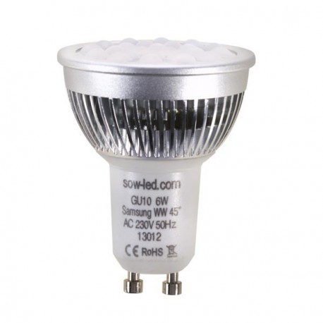 Ampoule LED SMD MR16 GU10 6W